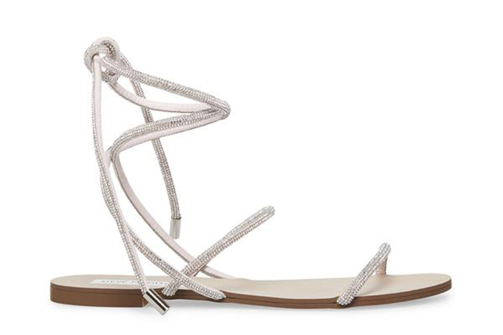 steve madden sandals, bedazzled sandals, jeweled sandals