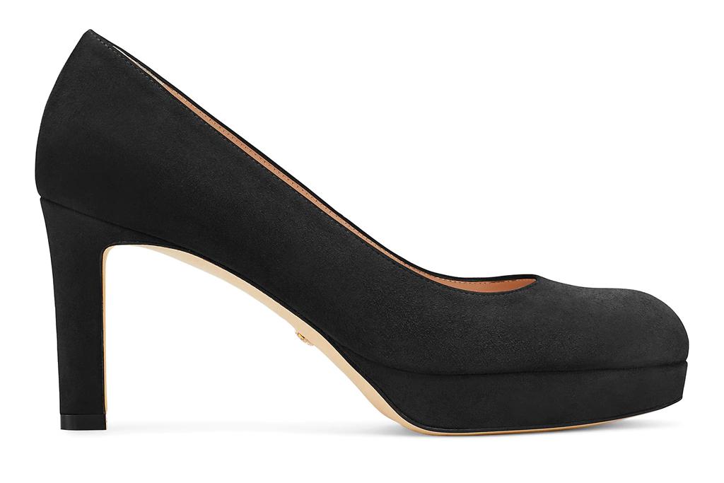 black pumps, round toe, heels, stuart weitzman
