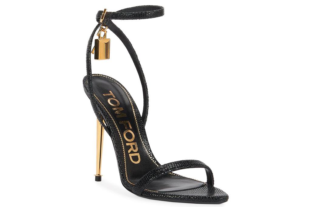 tom ford, sandals, gold, heel