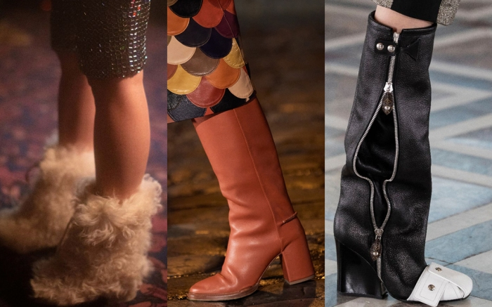 top shoes paris fashion week, paris fashion week best shoes, top 10 shoes, fashion, fall 2021 shoes, fall 2021, fall 2021 trends, fashion trends, chloe, chanel, louis vuitton