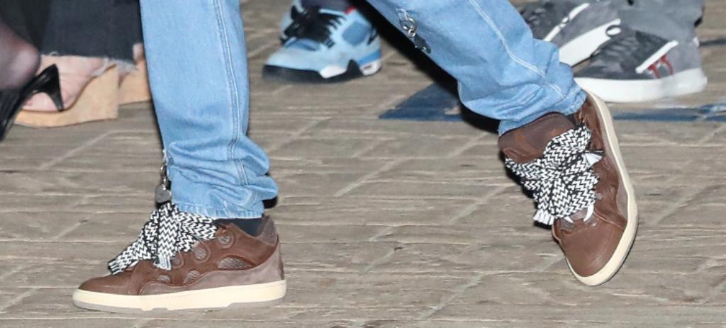Travis Scott, Lanvin Curb Sneakers, Brown SNeakers