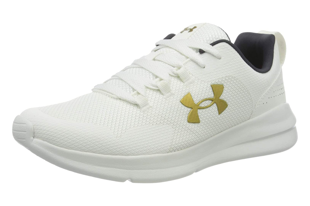 white sneakers, running shoes, women, under armour