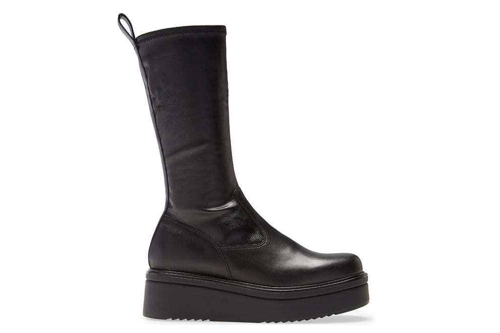 vagabond boot, tara platform boot, tall black boots