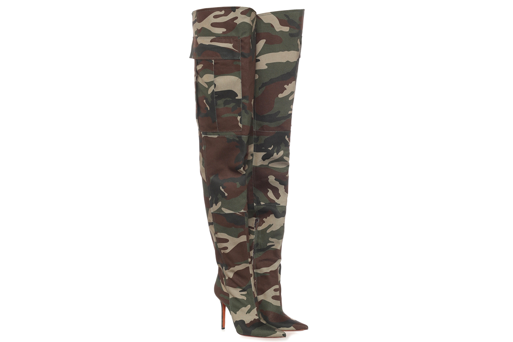 vetementts, camouflage boots, cargo