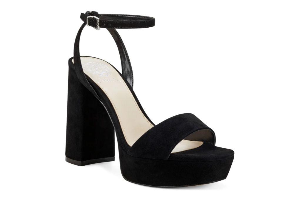 Vince Camuto Chastin Platform Sandal, Black Heels