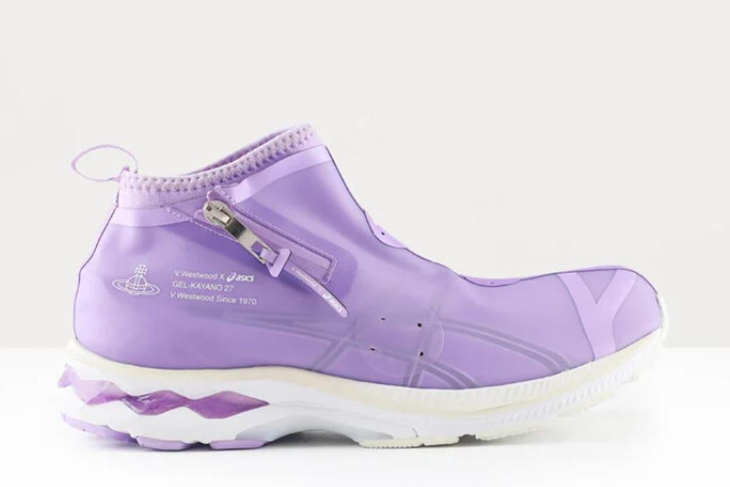 vivienne westwood x asics, vivienne westwood sneaker, purple sneakers
