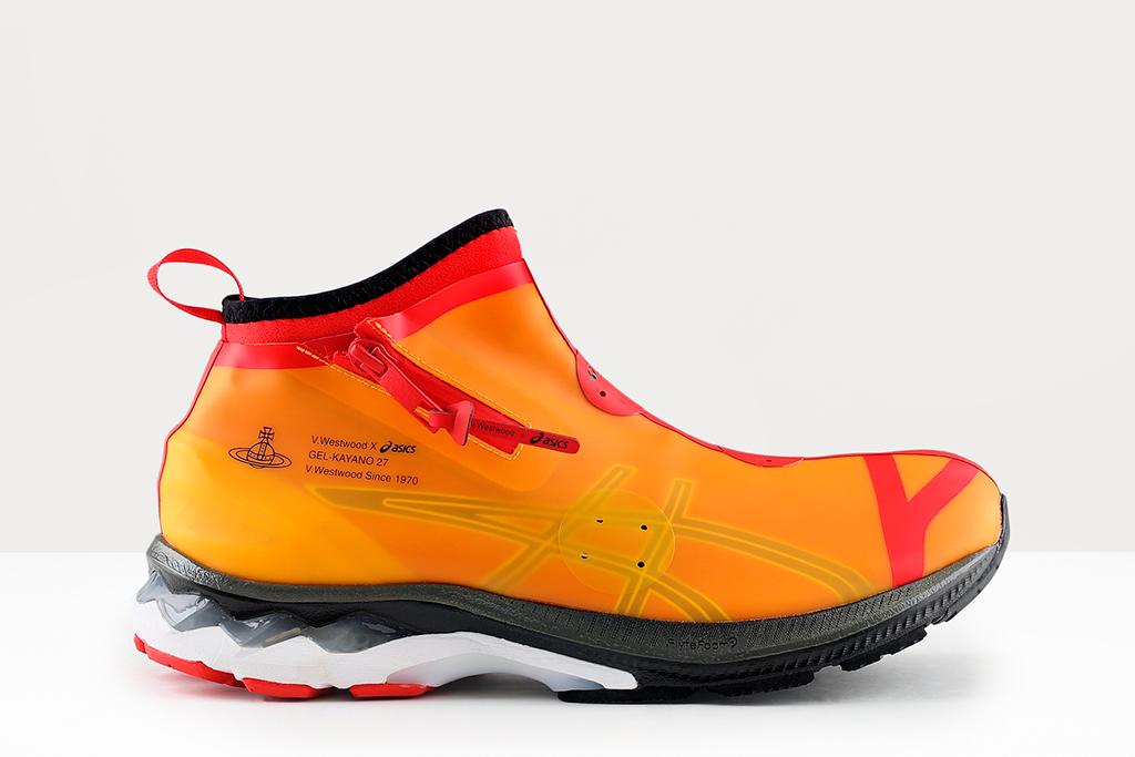 vivienne westwood x asics, vivienne westwood sneaker, orange sneakers