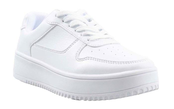 walmart, sneakers, platform, white