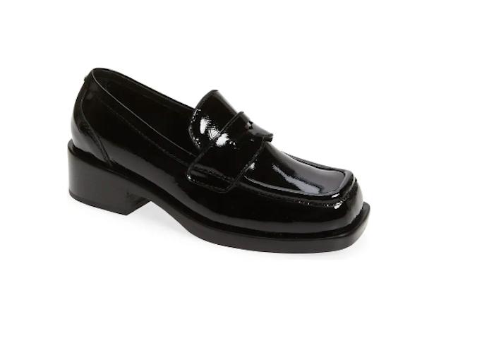 jeffrey campbell, black loafer, platform loafer, chunky sole loafer