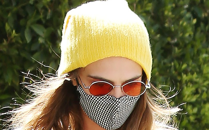 Cara Delevingne goes to the gym in West Hollywood