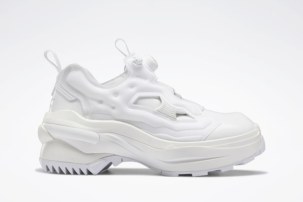 Maison Margiela, Reebok, Tabi Instapump Fury, white sneakers