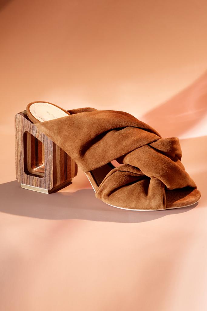 Nicholas Kirkwood Joaquim mule, sustainability, sustainable fashion, sustainable shoes, eco-friendly fashion, eco-friendly shoes, eco-chic, green fashion, sustainable footwear
