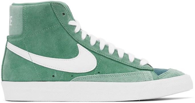 Nike sneakers, blazer sneakers, green sneakers