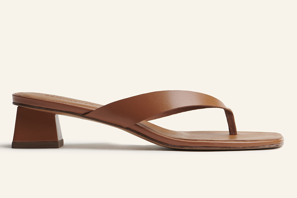 reformation, sandals, sustainable shoes