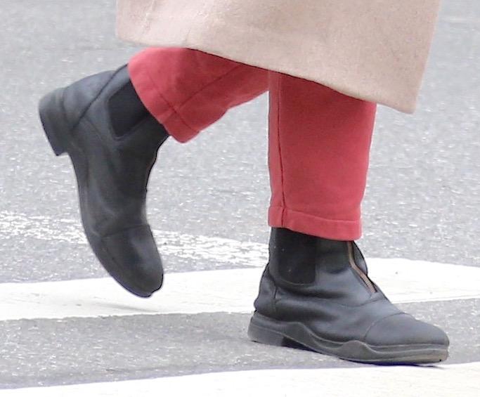 Jodie Turner-Smith, Joshua Jackson, nyc, black boots, soho