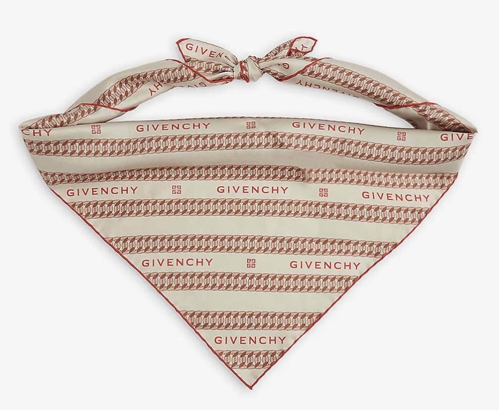 givenchy, scarf, logo