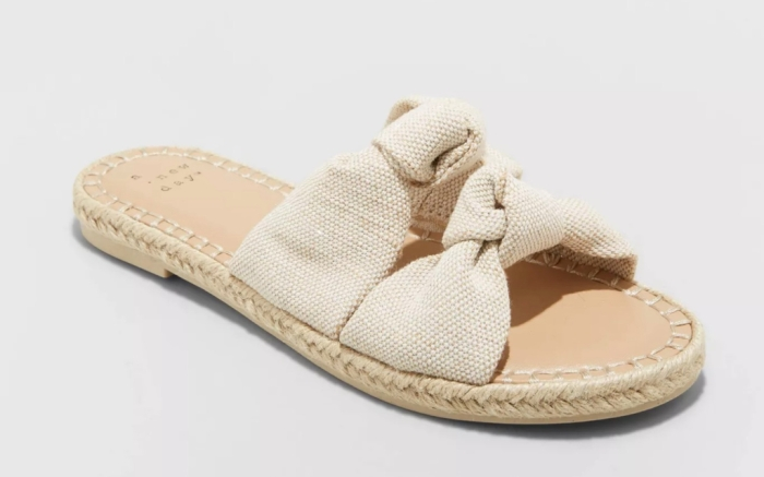 A New Day Miriam Double Knotted Espadrille Slide Sandals, Best Target Sandals