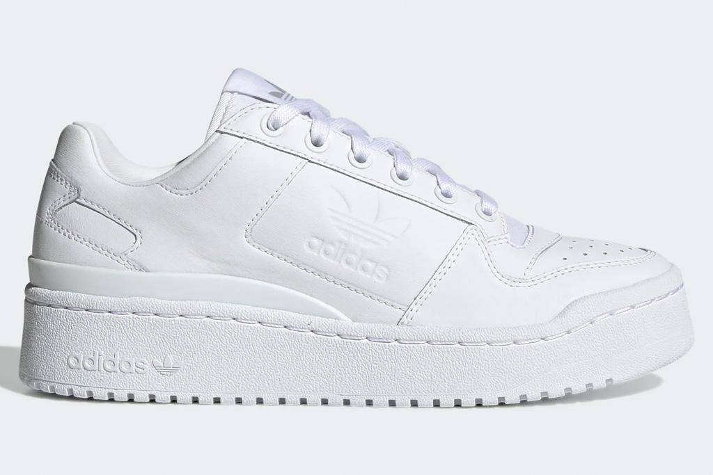 white sneakers, platform, chunky, adidas