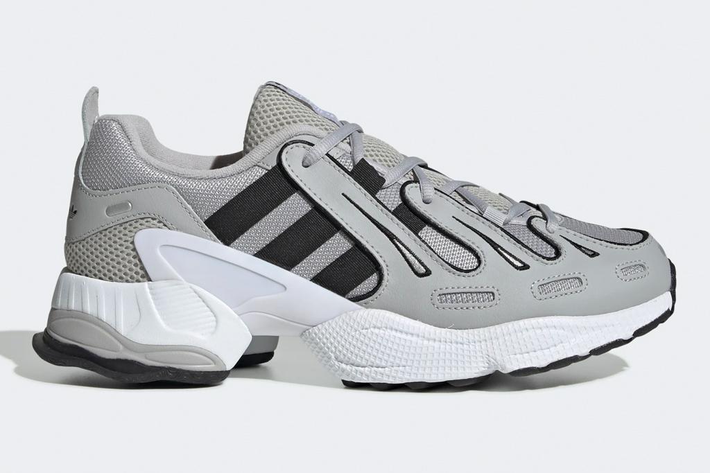 sneakers, gray, silver, adidas