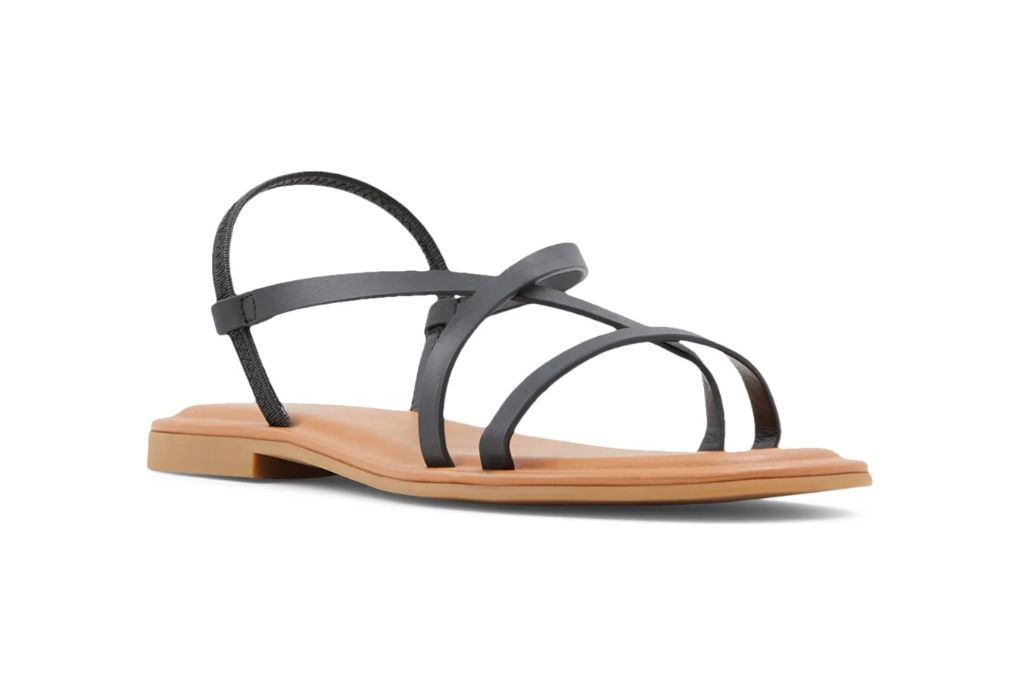 Aldo, Broasa Flat Sandal, Black Sandals