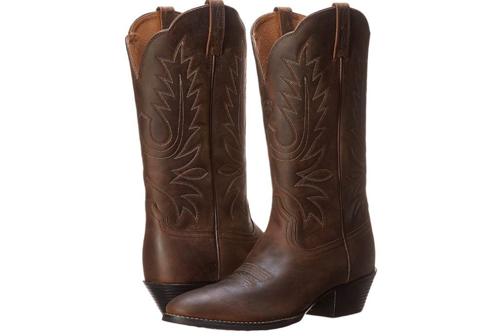 Ariat Heritage Western R Toe, Cowboy Boots, Brown Boots