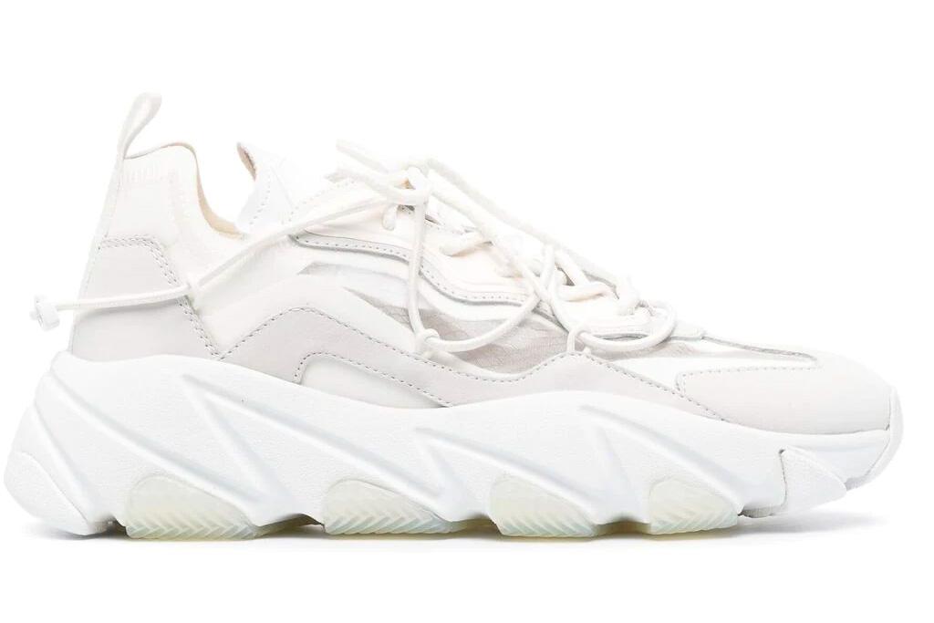 white sneakers, platform, chunky, ash