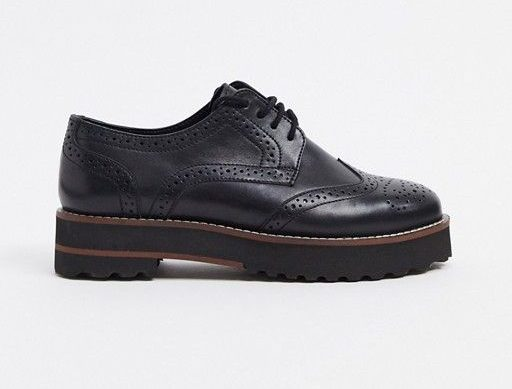 ASOS Mottle Leather Flat Brogues Shoes