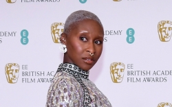 Cynthia Erivo, Jeweled Dress, Heels, BAFTA