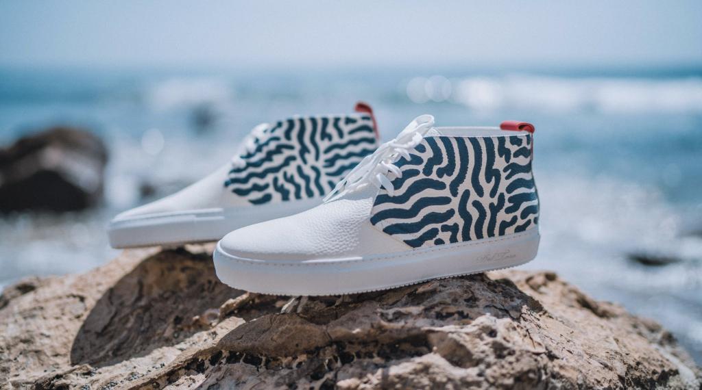 Del Toro x Alli Conrad White Leather Chukka, Collabs, White Sneakers