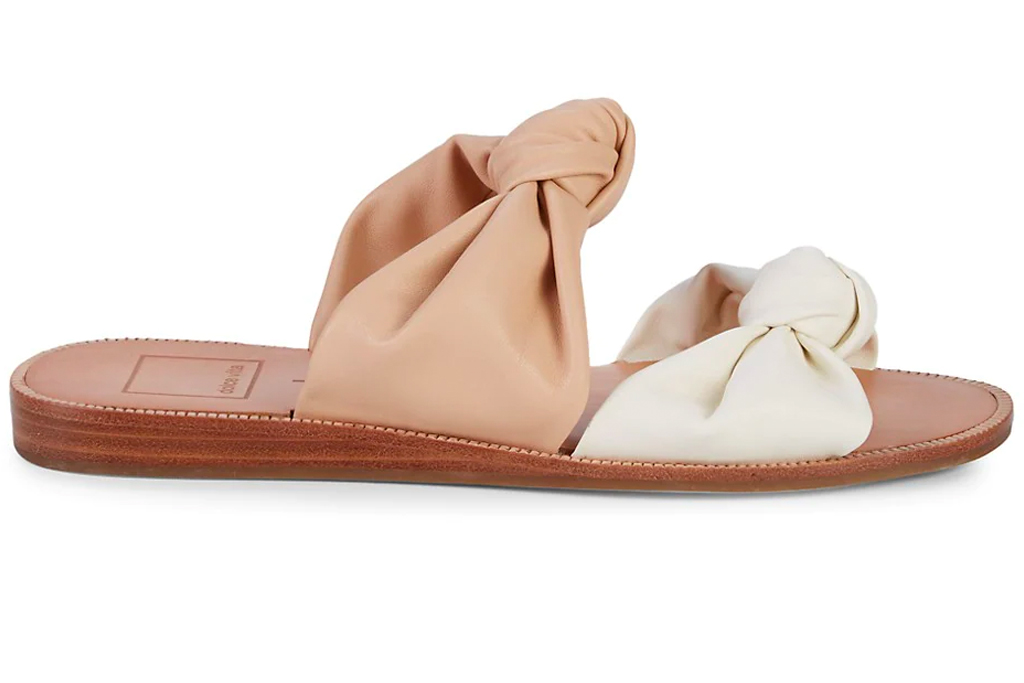 padded sandals, twisted, dolce vita