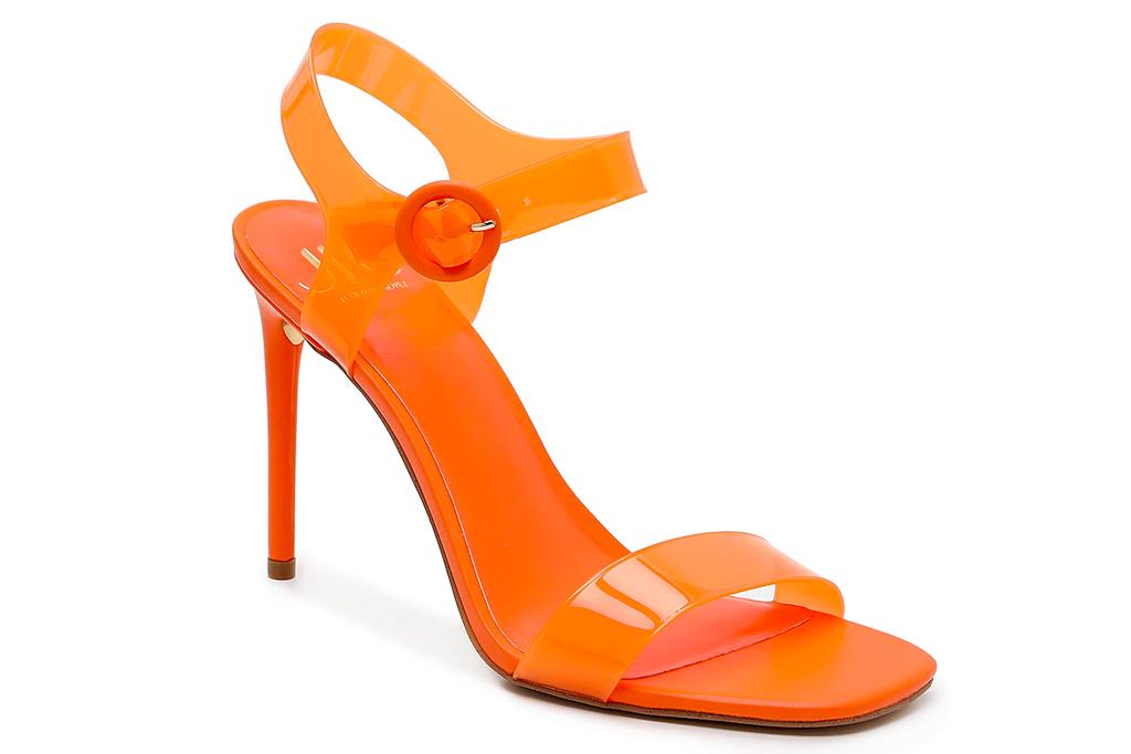 dsw, jlo, sandals, orange, heels