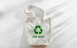 White eco bag mockup, shopping sack
