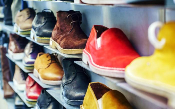 Shoes Boots on Shelf