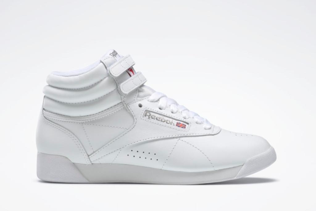 Reebok Freestyle Hi Women's Shoes, White Shoes, Best White Reebok Sneakers