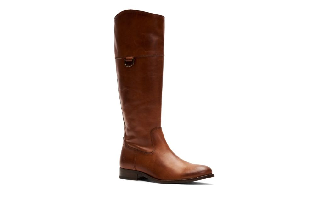 Frye Melissa D-Ring Knee High Riding Boots, Brown Knee High Boots