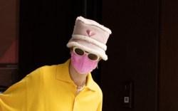Gigi Hadid, Yellow Sweater Set, Red