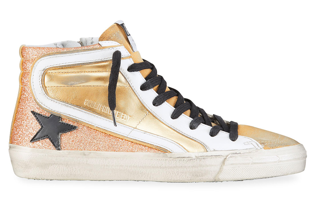 golden goose, sneakers, gold, pink
