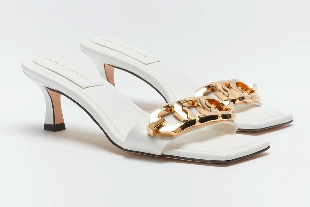 good american, sandals, heels, slides