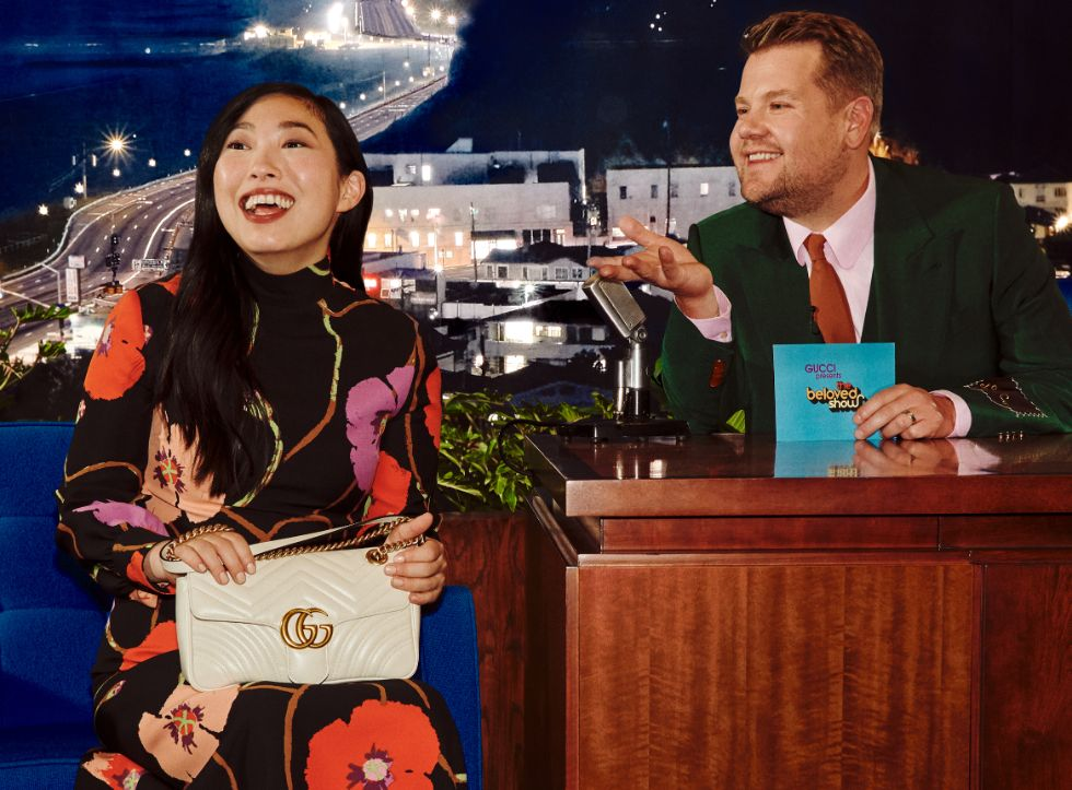 gucci talk show, beloved, james corden, awkwafina