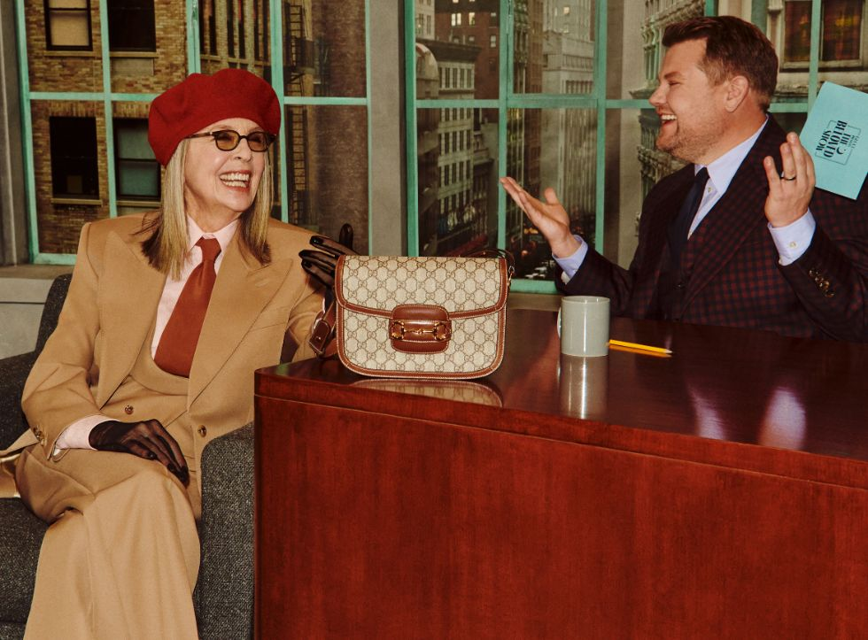 gucci talk show, beloved, james corden, diane keaton