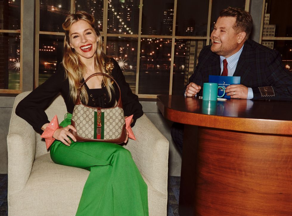 gucci talk show, beloved, james corden, sienna miller