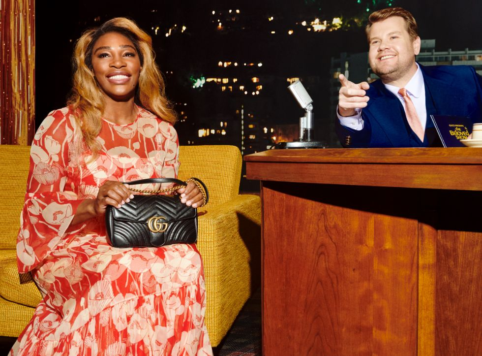 gucci talk show, beloved, james corden, serena williams