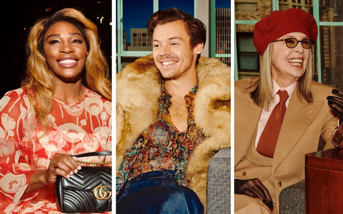 gucci talk show, beloved, james corden, serena williams, harry styles, diane keaton