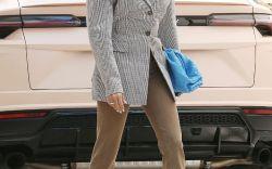 Hailey Baldwin in Sleek Heels