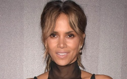 halle berry, jumpsuit, sneakers
