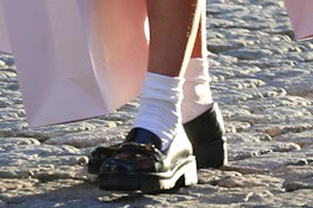 irina shayk, dress, slip dress, silky, coat, loafers, victoria's secret, photo shoot, ny