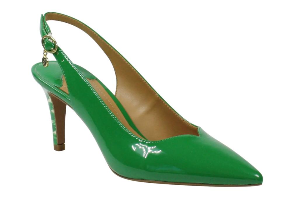 heels, slingback, green pumps, j renee