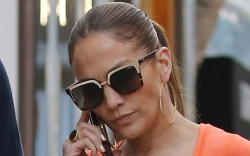 jennifer lopez, jumpsuit, heels, sandals