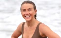 julianne hough, sports bra, leggings, beach,