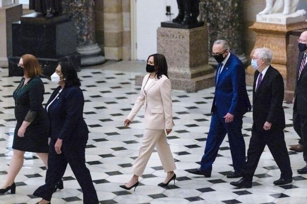 kamala harris, suit, prabal gurung, heels, nancy pelosi, president biden, speech, congress